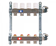 Коллекторная группа из нерж.стали с регулировочными и термостатическими  вентилями Uni-fitt