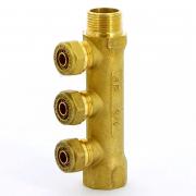Коллектор НВ 3/4' с выходами для PE-X трубы TIEMME