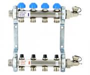 Коллекторная группа с регулировочными и термостатическими  вентилями Uni-fitt