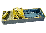 Внутрипольный конвектор с принудительной конвекцией повышенной мощности Techno Power глубина 130 мм ширина 270 мм
