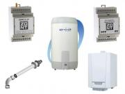 Комплект котельной с газовым котлом и дистанционным управлением (GSM или WiFi)