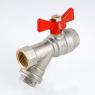 Кран шаровой VALTEC COMBI со встроенным фильтром VT.293