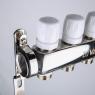 Коллекторный блок из нержавеющей стали с термостатическими клапанами Valtec VTc.588.EMNX