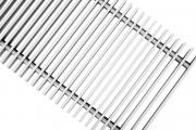 Рулонная решетка  алюминиевая крашеная  (белый,коричневый,черный) ширина 370 мм
