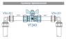Кран шаровой с обжимным соединением VALTEC VT.343