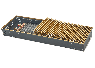 Рулонная решетка  золото, бронза ширина 350 мм