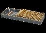 Рулонная решетка  золото, бронза ширина 420 мм